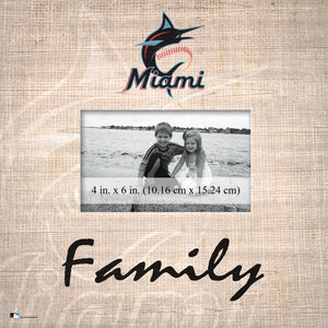 Miami Marlins Family Picture Frame