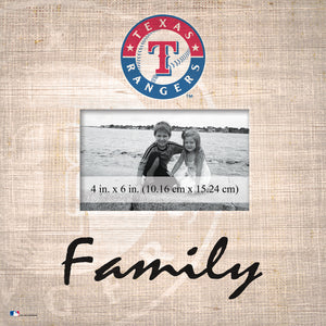 Texas Rangers Family Picture Frame