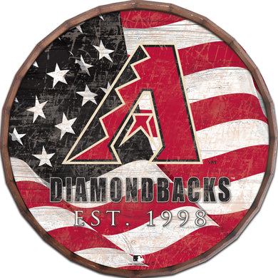 Arizona Diamondbacks Flag Barrel Top