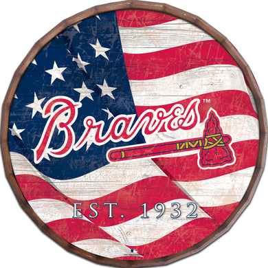 Atlanta Braves Flag Barrel Top