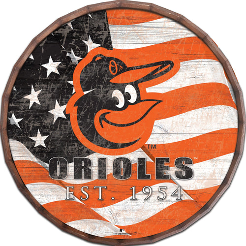 Baltimore Orioles Flag Barrel Top