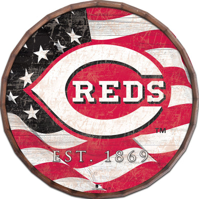 Cincinnati Reds Flag Barrel Top