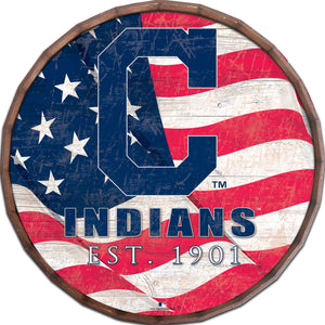 Cleveland Indians Flag Barrel Top
