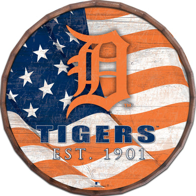 Detroit Tigers Flag Barrel Top