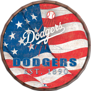 Los Angeles Dodgers Flag Barrel Top