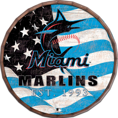 Miami Marlins Flag Barrel Top