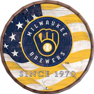 Milwaukee Brewers Flag Barrel Top