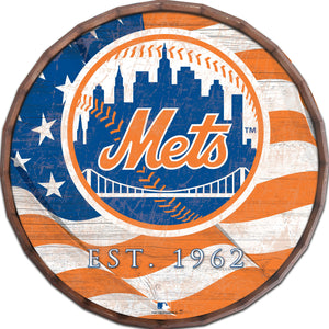 New York Mets Flag Barrel Top
