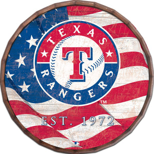 Texas Rangers Flag Barrel Top
