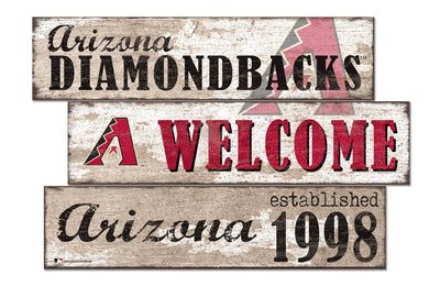 Arizona Diamondbacks Welcome 3 Plank Wood Sign