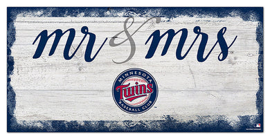 Minnesota Twins Mr. & Mrs. Script Wood Sign - 6