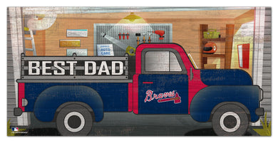 Atlanta Braves Best Dad Truck Sign - 6