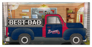 "Atlanta Braves Best Dad Truck Sign - 6""x12"""
