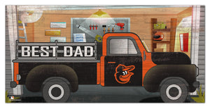 "Baltimore Orioles Best Dad Truck Sign - 6""x12"""