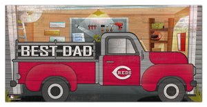"Cincinnati Reds Best Dad Truck Sign - 6""x12"""