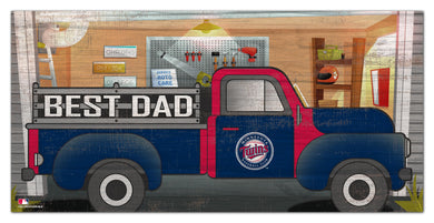 Minnesota Twins Best Dad Truck Sign - 6