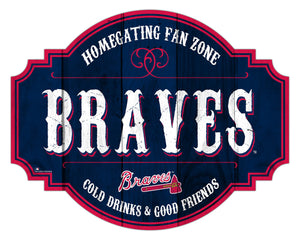 Atlanta Braves Homegating Wood Tavern Sign -24""