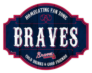 Atlanta Braves Homegating Wood Tavern Sign -12""