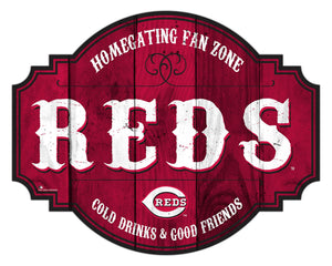 Cincinnati Reds Homegating Wood Tavern Sign -12""