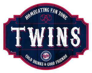 Minnesota Twins Homegating Wood Tavern Sign -12""