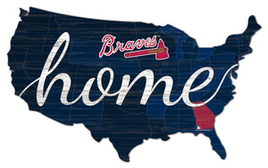 Atlanta Braves USA Shape Home Cutout