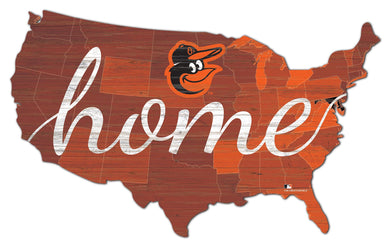 Baltimore Orioles USA Shape Home Cutout