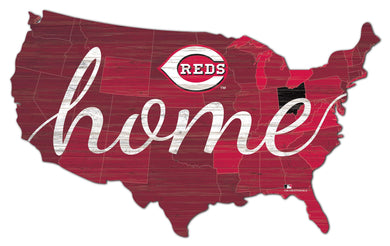 Cincinnati Reds USA Shape Home Cutout