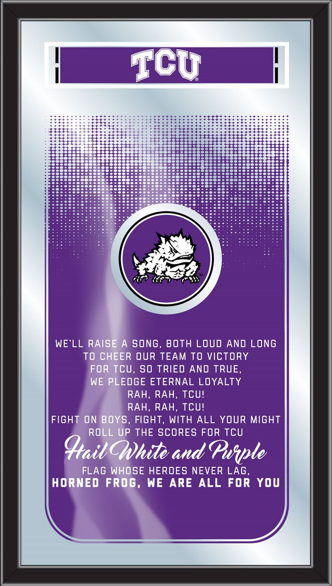 TCU Horned Frogs Fight Song Mirror