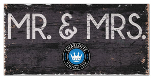 "Charlotte FC Mr. & Mrs. Wood Sign - 6""x12"""