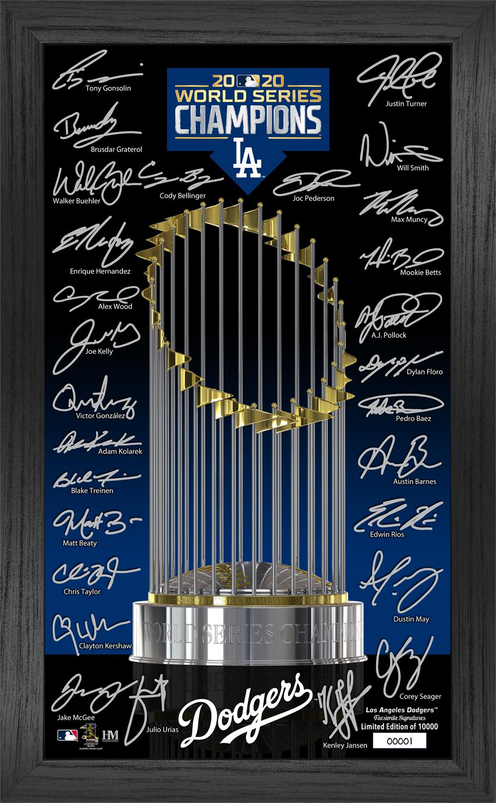 Los Angeles Dodgers 2020 World Series Champions Signature Trophy