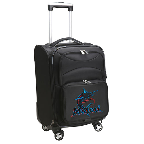 Miami Marlins Luggage Carry-On 21in Spinner Softside Nylon