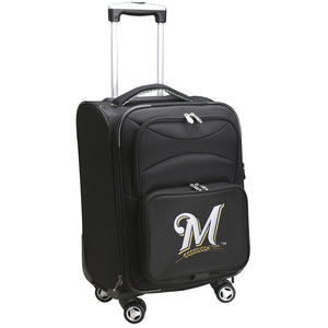 Milwaukee Brewers Luggage Carry-On 21in Spinner Softside Nylon