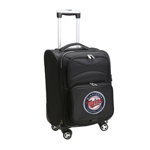 Minnesota Twins Luggage Carry-On 21in Spinner Softside Nylon