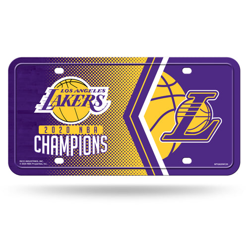 Los Angeles Lakers 2020 NBA Champs Metal License Plate
