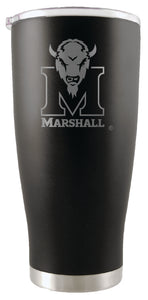 Marshall Thundering Herd 20oz. Stainless Steel Etched Tumbler