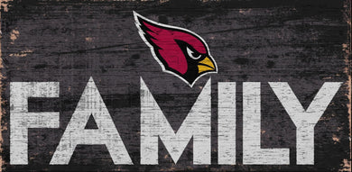 Arizona Cardinals Family Wood Sign
