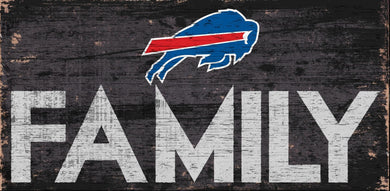 Buffalo Bills Family Wood Sign