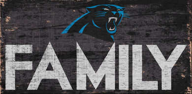 Carolina Panthers Family Wood Sign