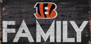 Cincinnati Bengals Family Wood Sign