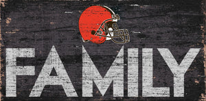 Cleveland Browns Family Wood Sign