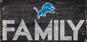 Detroit Lions Family Wood Sign