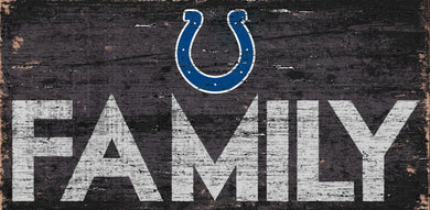 Indianapolis Colts Family Wood Sign - 12