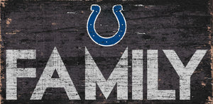 "Indianapolis Colts Family Wood Sign - 12"" x 6"""