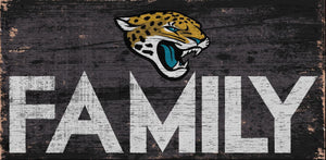 Jacksonville Jaguars Family Wood Sign