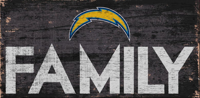 Los Angeles Chargers Family Wood Sign