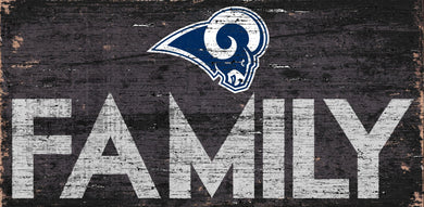 Los Angeles Rams Family Wood Sign