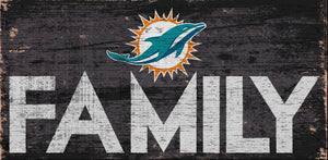 Miami Dolphins Family Wood Sign