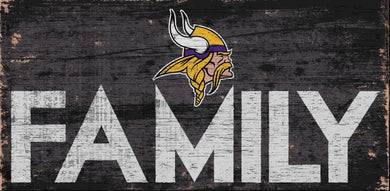 Minnesota Vikings Family Wood Sign
