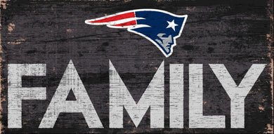 New England Patriots Family Wood Sign