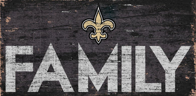 New Orleans Saints Family Wood Sign